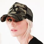 Personalised Camouflage Snapback Trucker Cap